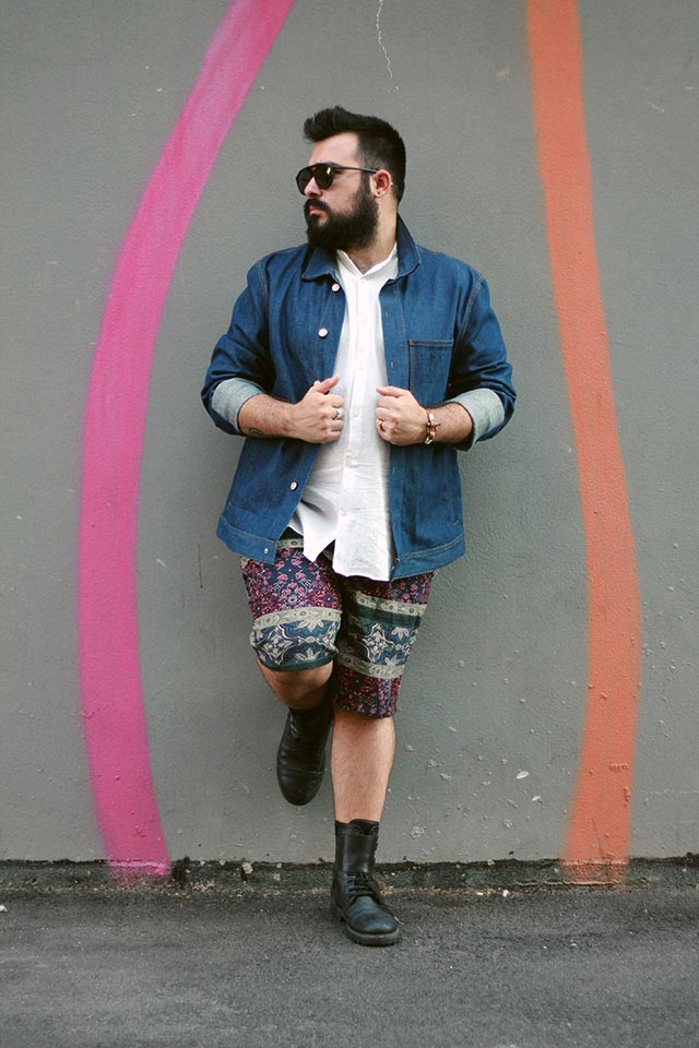 Outfit estivo uomo aperitivo, Plus size men outfit, Floral shorts