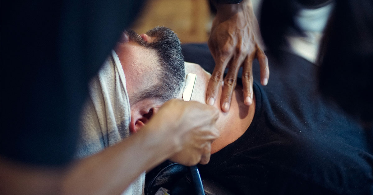 Here's how you can start relaxing and take your time so that you get a precise shave while using a straight razor on your face