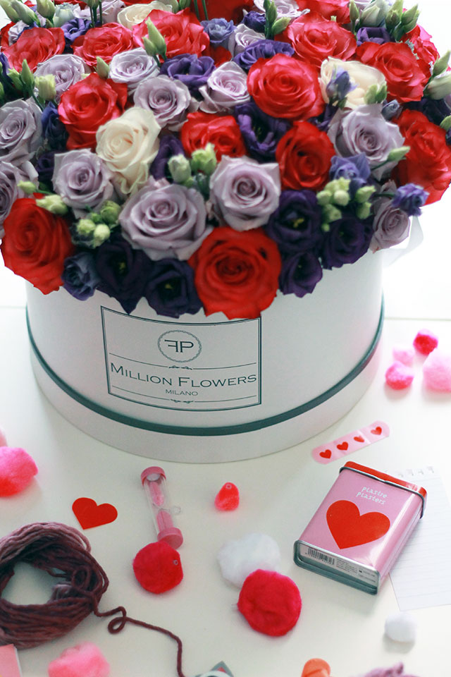 idea regalo fiori, million flowers, rose in scatola, rose boxes, florpassion