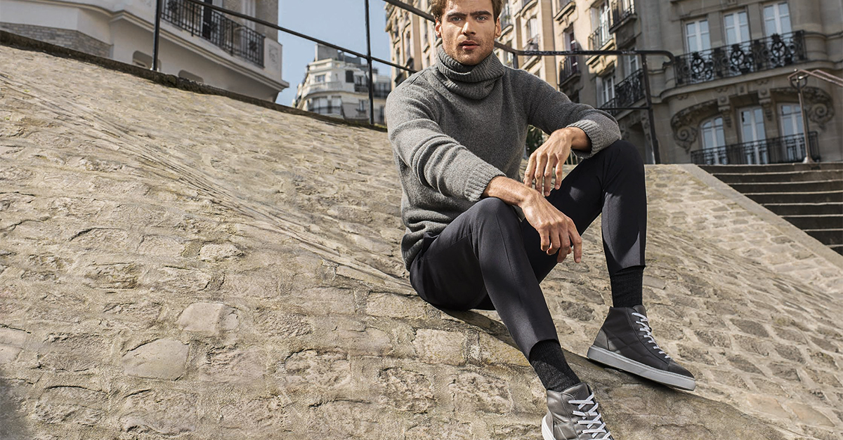 Sneakers basse, high top, in pelle o camoscio, monocrome o con stampe: scopri le sneakers uomo di tendenza della stagione Autunno Inverno 2017/18!