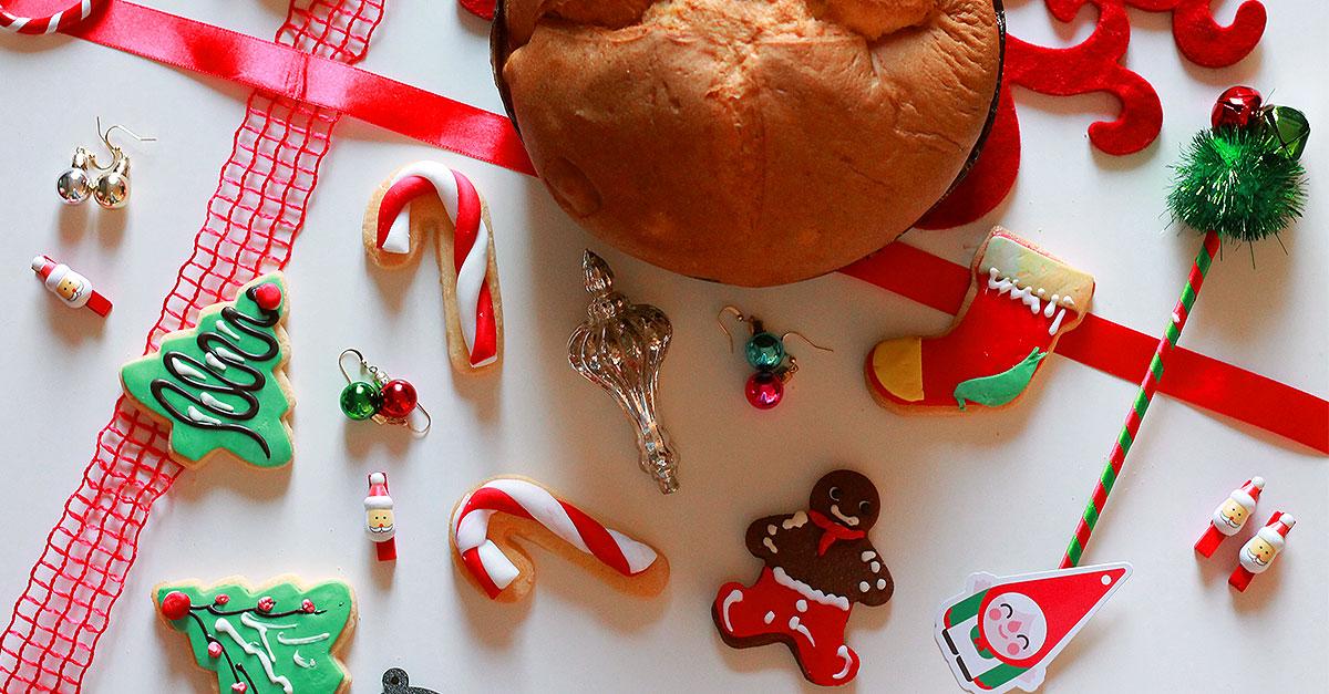 dolci di natale per intolleranti, biscotti natalizi senza lattosio, panettone senza glutine