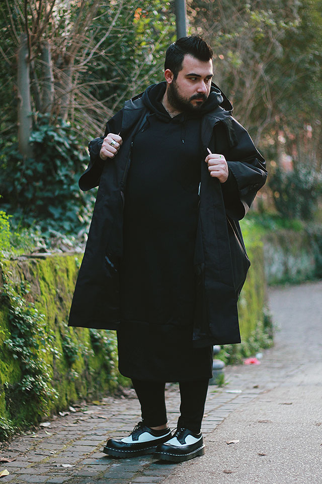 look uomo all'avanguardia, mens alternative fashion