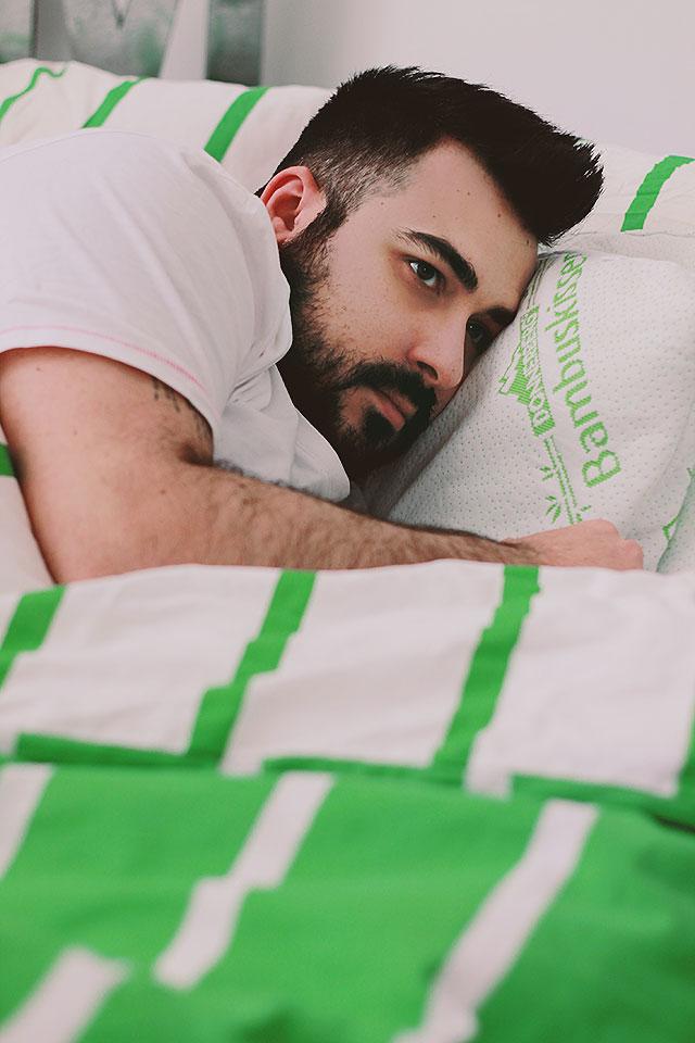 cuscino donnerberg cervicale memory foam bambù, dormire su un fianco