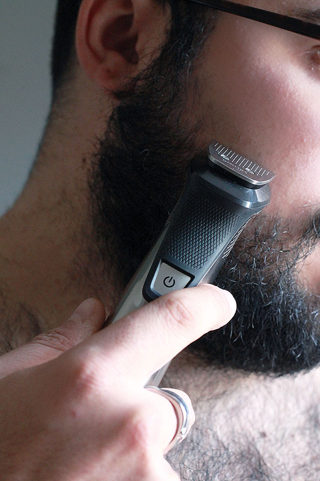 barba sagomata, come rifinire la barba, multigroom philips