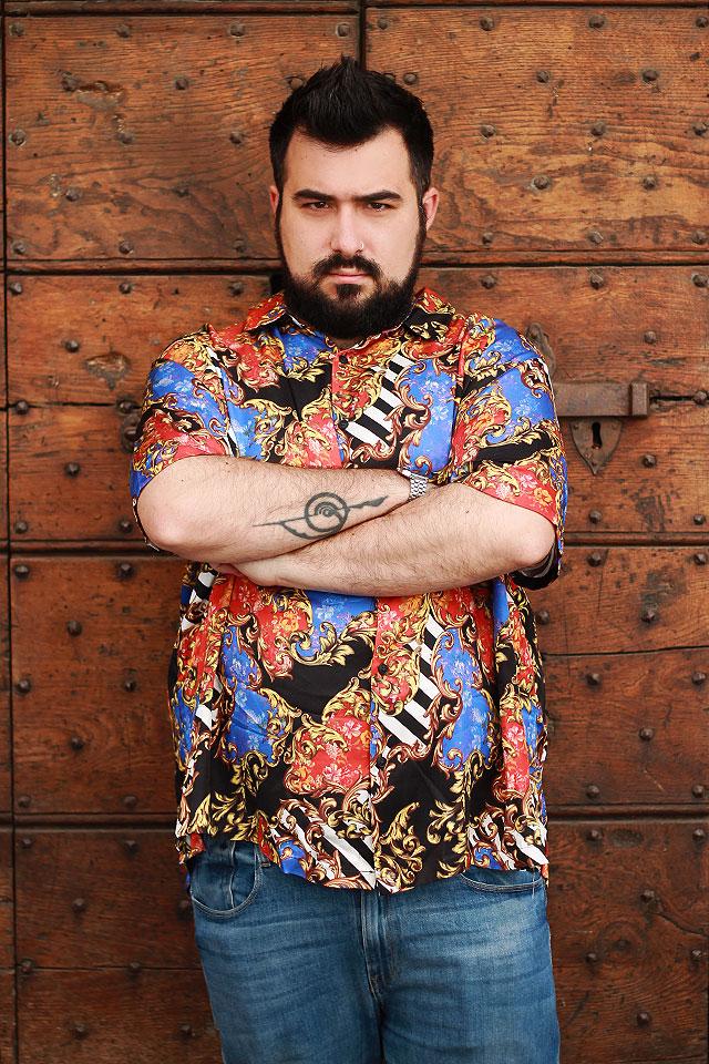 Asos Plus Size, Baroque Print Shirt, Camicia a stampa barocca