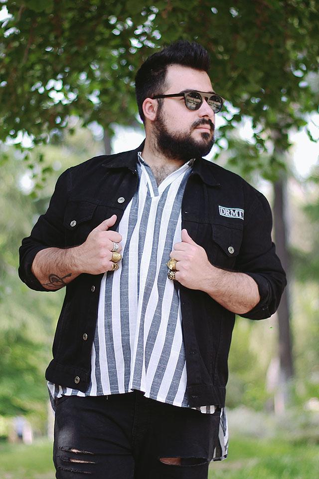 chemise breton, outfit man plus size