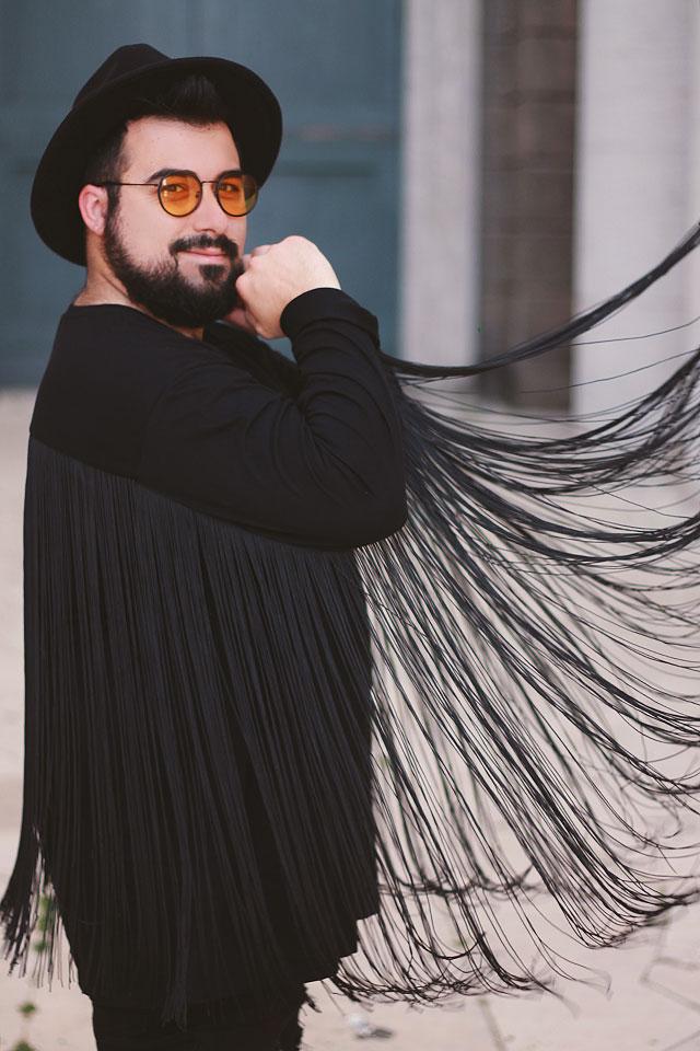 tendenza frange uomo, men fringe trend, asos plus size outfit