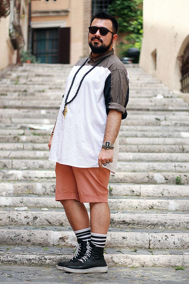 estate plus size outfit, pantaloncini chino, camicia taglie forti, shorts