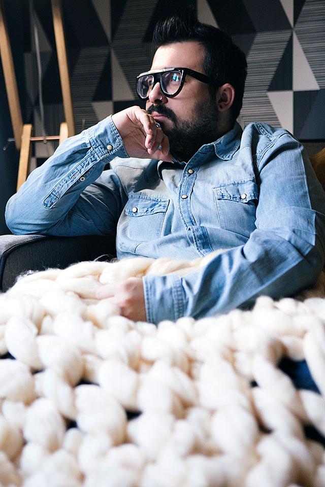 maxi coperta di filato gigante di lana fatta a mano, banggood