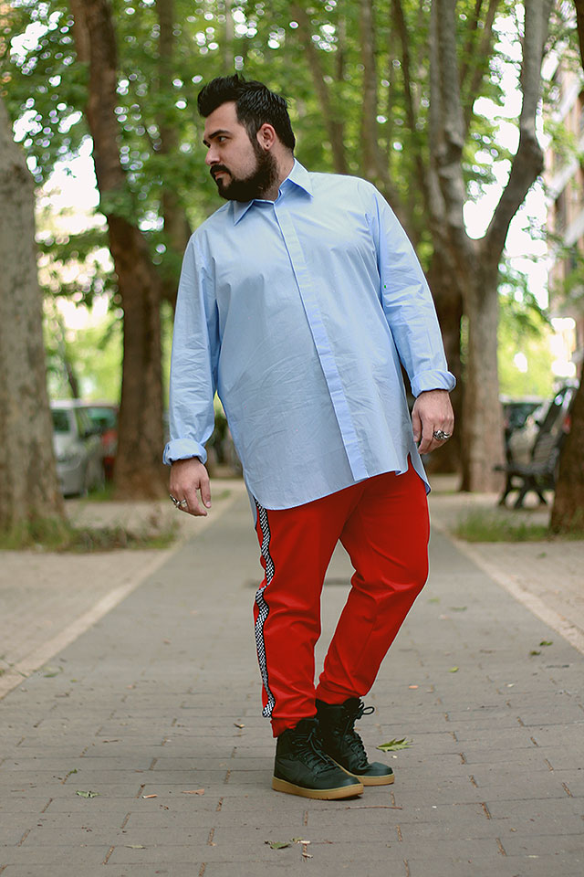 plus size outfit, plus size men fashion, Man Oversized Shirt