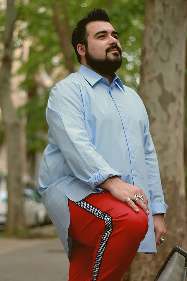 camicia da uomo oversize, plus size men fashion, Man Oversized Shirt