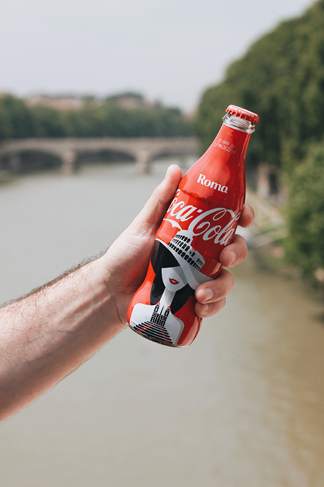 coca-cola, face of the city, roma, noma bar, edizione limitata