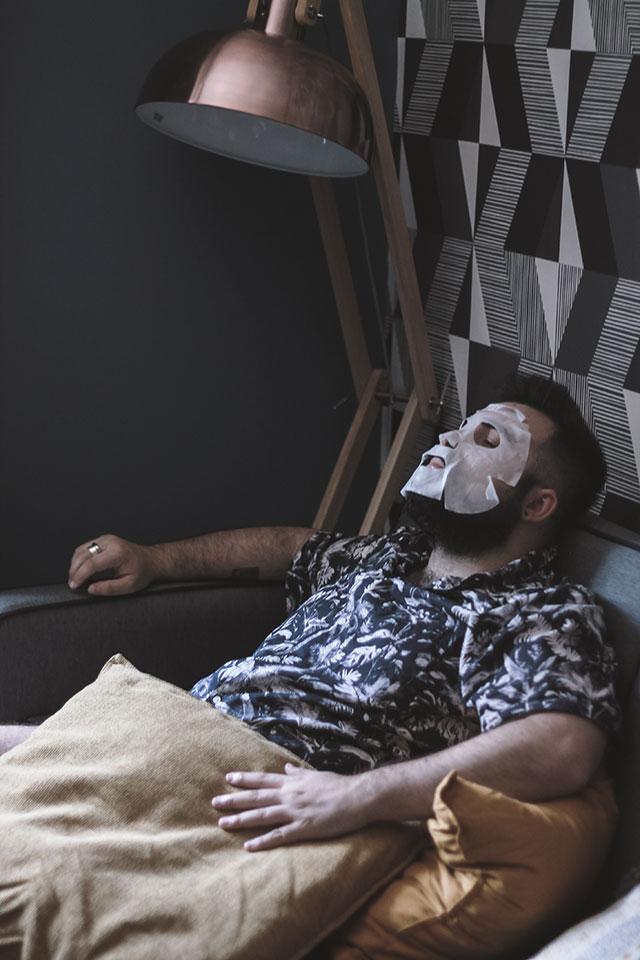 Hangover Face Mask, Maschera facciale uomo