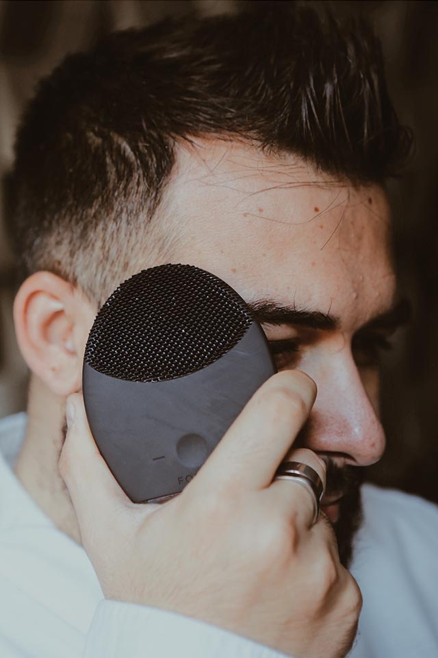 luna 2 for men, foreo, prodotto sonico per la pelle