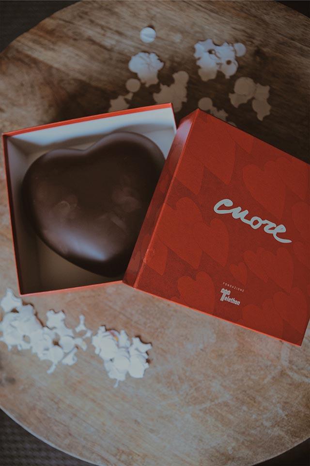 cuori di cioccolato, telethon