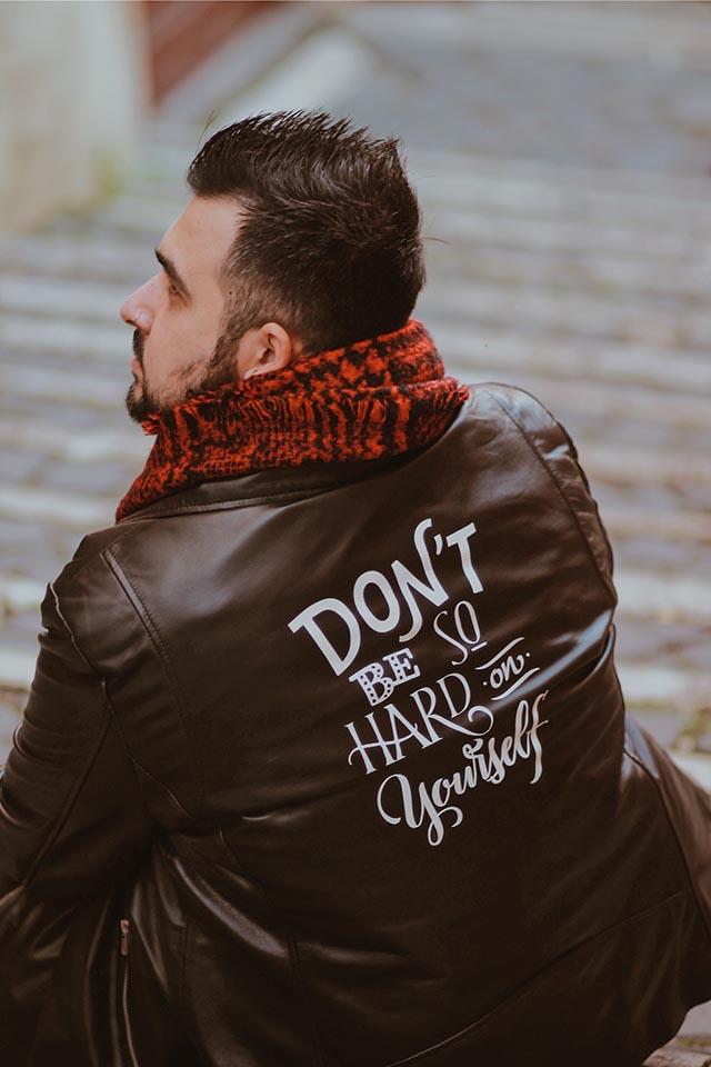 giacca in pelle su misura personalizzata, the jacket maker, moda plus size