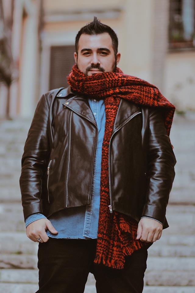 giacca in pelle su misura personalizzata, the jacket maker, moda taglie forti uomo