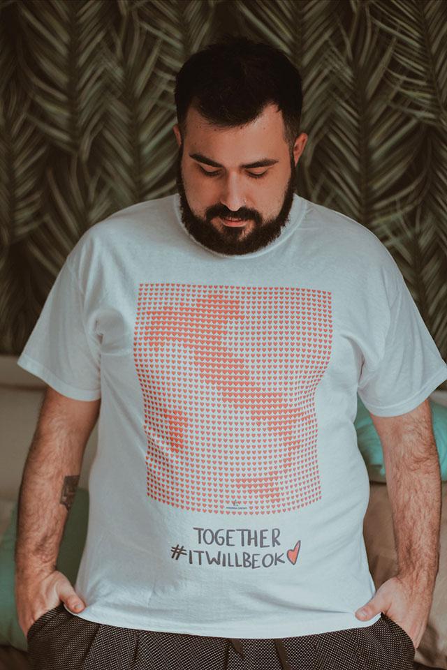 tshirt coronavirus covid19, emergenza sanitaria, solidarietà, moaconcept haikure