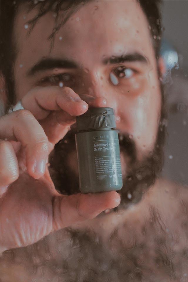 men skincare, lumin hair body, shampoo uomo anti caduta, body wash uomo