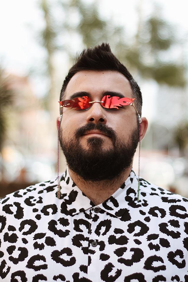 occhiali fiamma uomo shein, trendy sunglasses