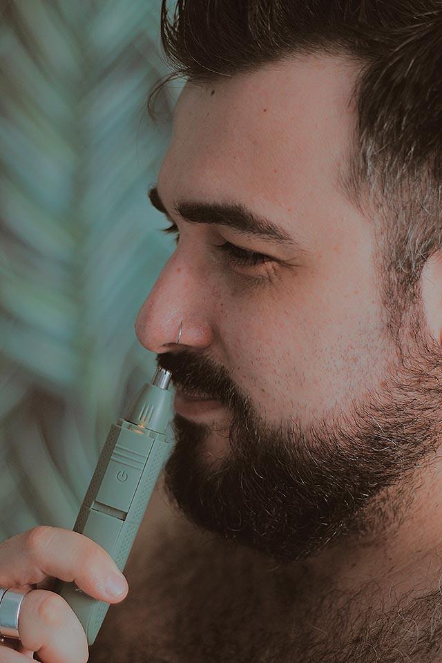 rasoio meridian, tagliare i peli del naso, trimmer nose hair