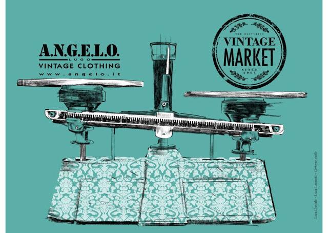 vintage market, roma