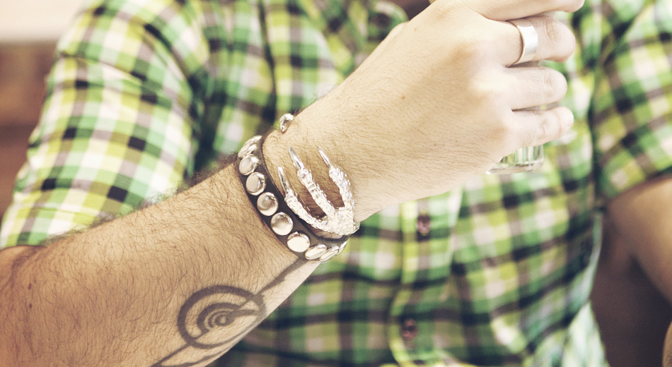 Fashion blogger, Jewelry, Accessories, Born Pretty Store, punk, retro, fashion, eagle paw, claw, bangle, big rivets, leather, bracelet