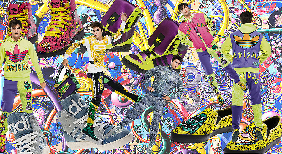 Jeremy Scott returns to its ongoing collaboration with adidas Originals with a collection for Fall-Winter 2014