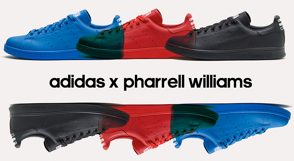 adidas collaborate with superstar Pharrell Williams to create a collection of shoes and clothing presented in the FW14 season.
