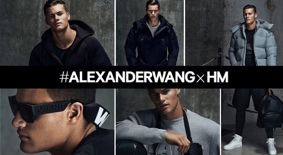 First look at the men's collection Alexander Wang x H&M thank GQ Uk, that realized a shooting with some items with the model Tayler Maher