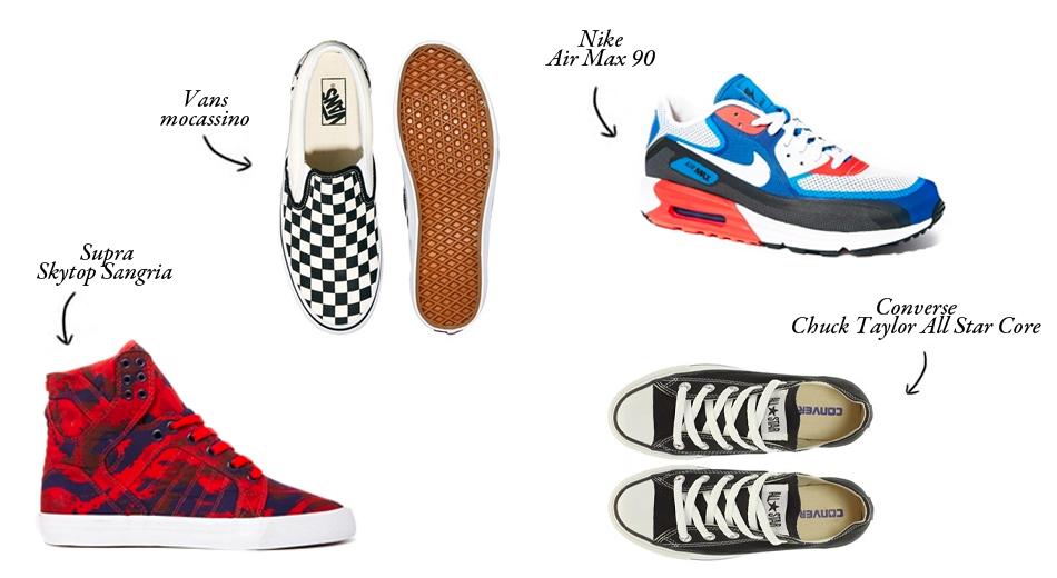 asos, scarpe ginnastica, uomo, sneakers, shoes, scarpe sportive, vans, nike air max, supra skytop, converse