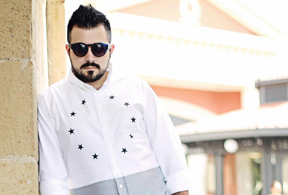 outfit, fashion blogger uomo, guy overboard, fashion blogger uomo, drmtm, de la luxe shirt, camicia, jessica buurman, lamu sunglasses