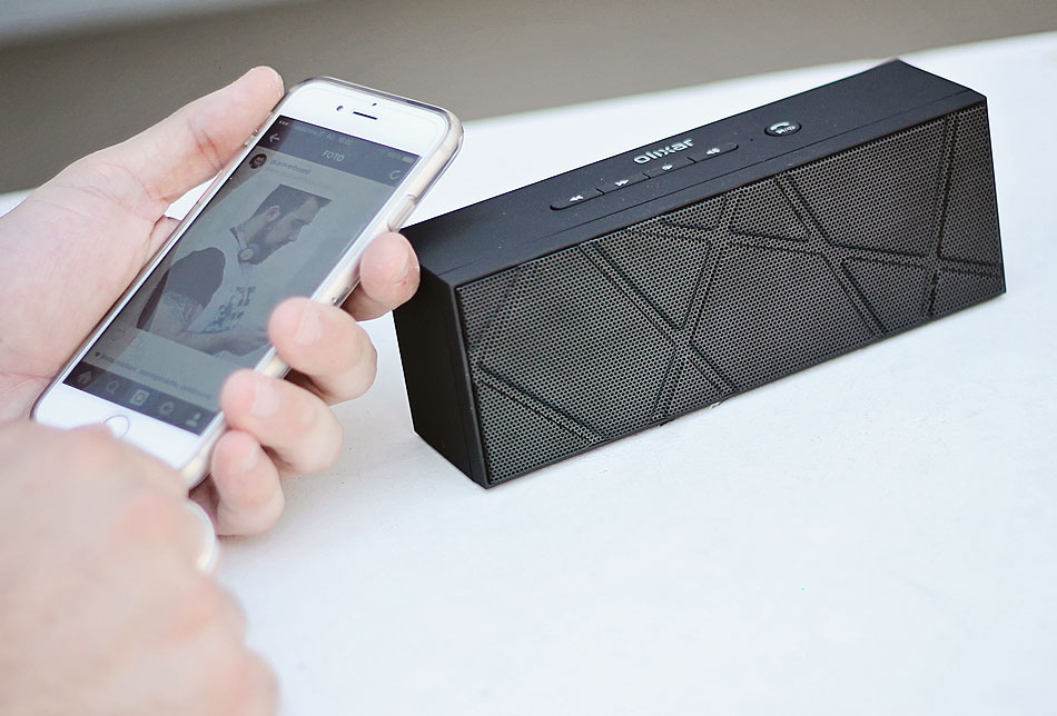 accessori iphone6, olixar, boombrick, bluetooth speaker, altoparlante wireless, mobile fun