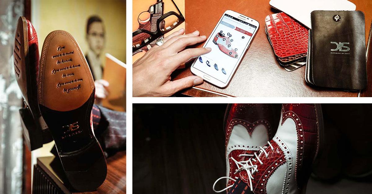 Designed by you, handmade by us è il progetto lanciato da DIS che permette di creare le proprie calzature personalizzando la scarpa in ogni parte
