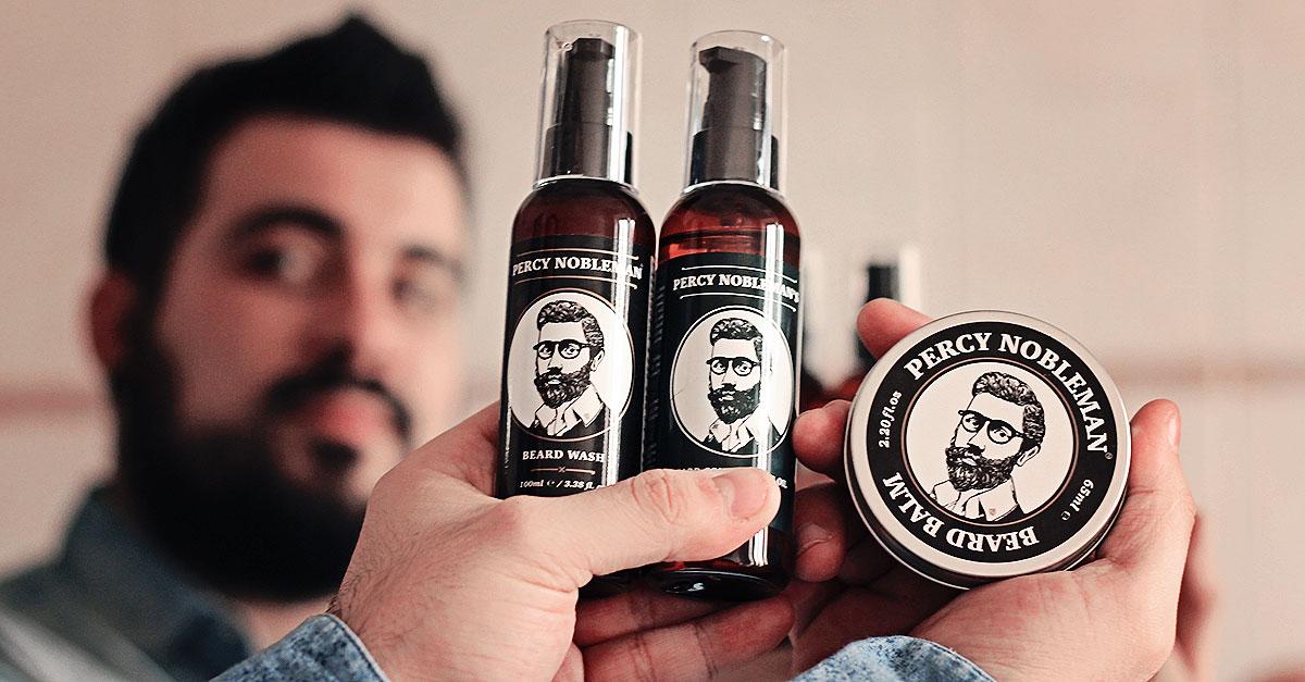 percy nobleman, prodotti per barba, cura della barba, olio per barba, lavare la barba, balsamo barba, guy overboard, fashion blogger uomo