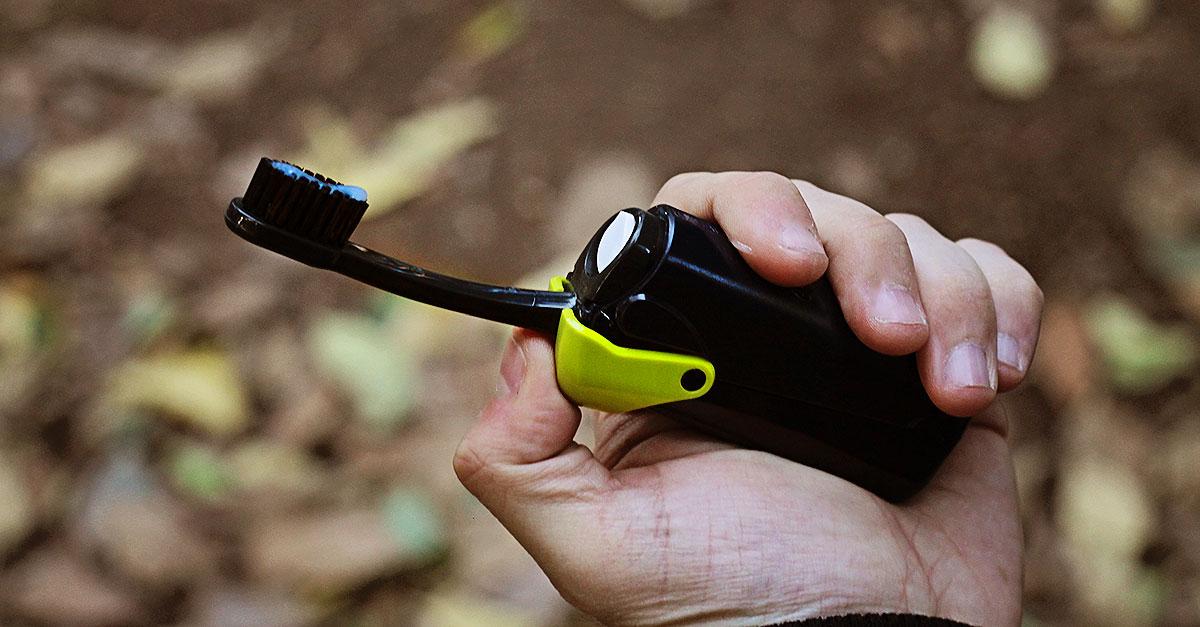 banale, tootbrush, spazzolino da viaggio, spazzolino portatile