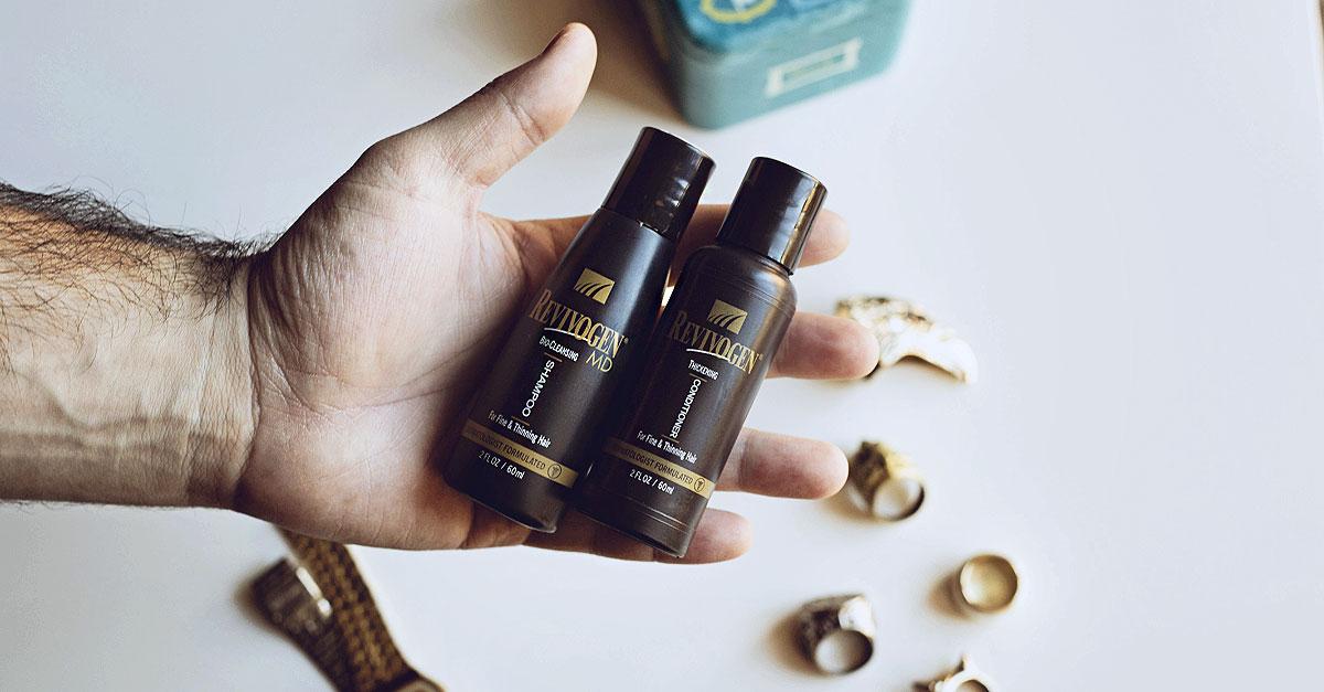 Salustore, cura capelli uomo, Revivogen Thickening Conditioner, Revivogen Bio Cleansing Shampoo