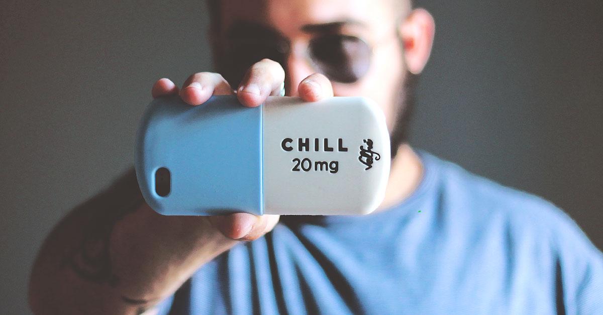 cover 3d iphone6 silicone, valfrè case chill 20mg