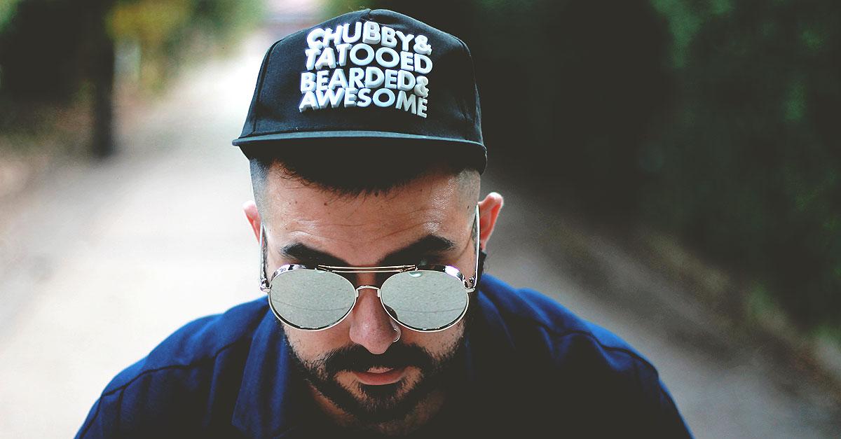 sammy dress baseball cap shape rubber letter chubby tattooed bearded awesome