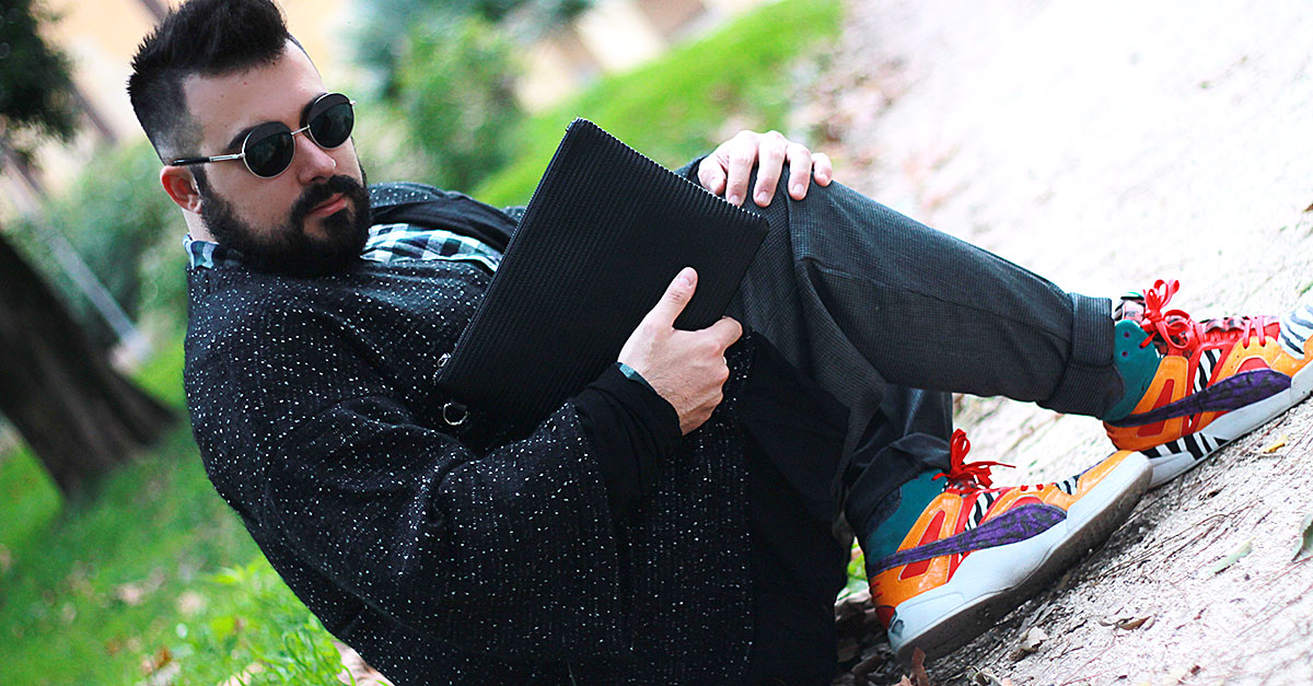 dresslily zip clutch, guy overboard, plus size men outfit, fashion blogger uomo roma