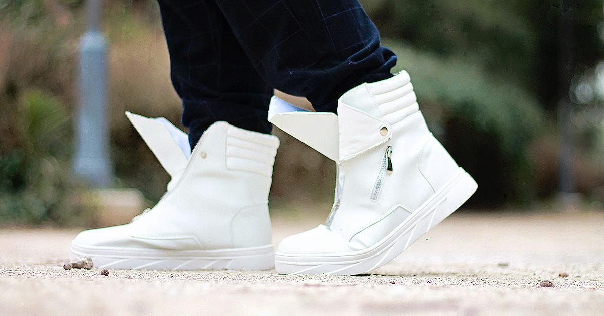 outfit, plus size male fashion blogger, stivali bianchi, men white boots