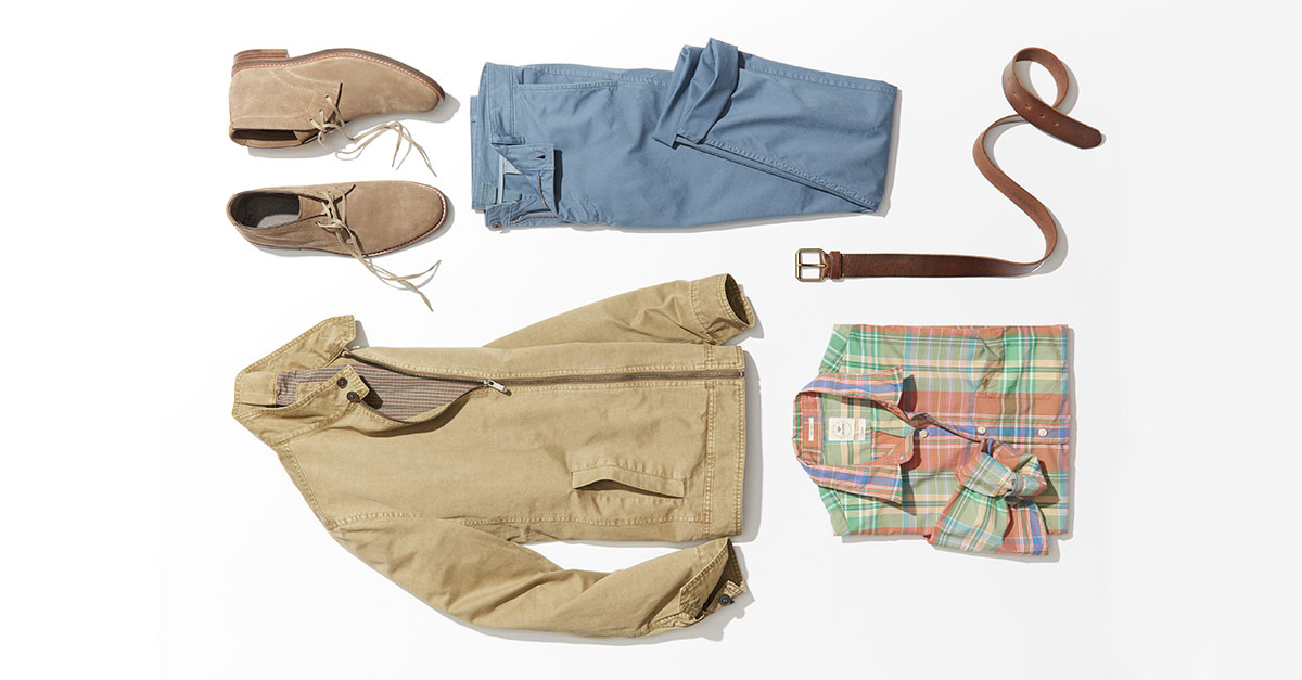 Men's fashion clothing suitable from day to evening for Summer/Spring 2017 are the Dockers Alpha Mist Washed, ersatile and essential pants