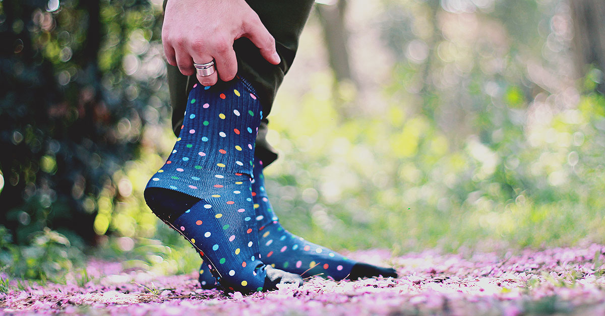 calzini personalizzati foto regali originali, calzini pois happy socks, calze uomo fantasia