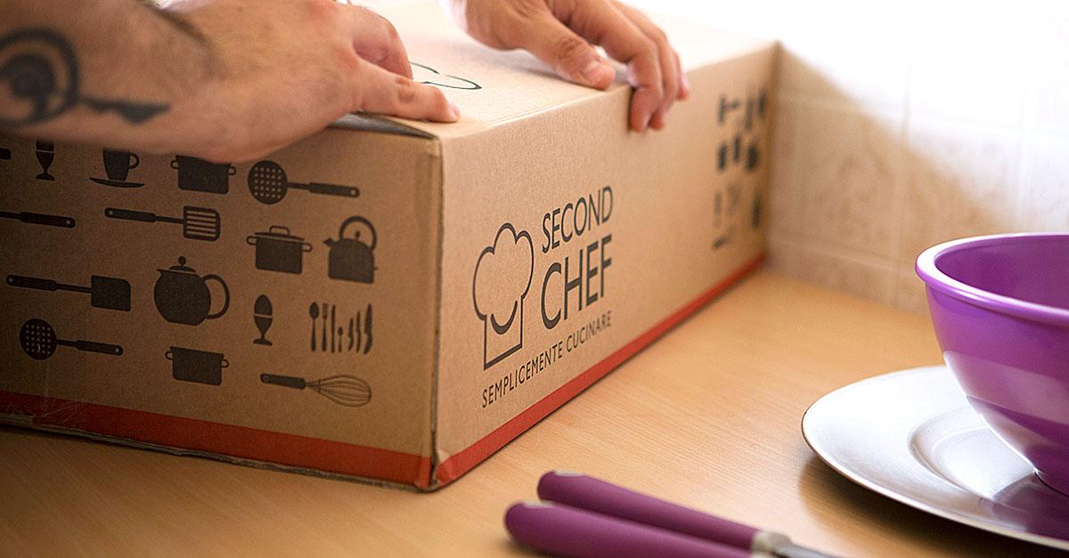 SecondChef è un servizio innovativo che permette di scegliere le ricette ricevendo a casa il box contenente le istruzioni e gli ingredienti per realizzarle