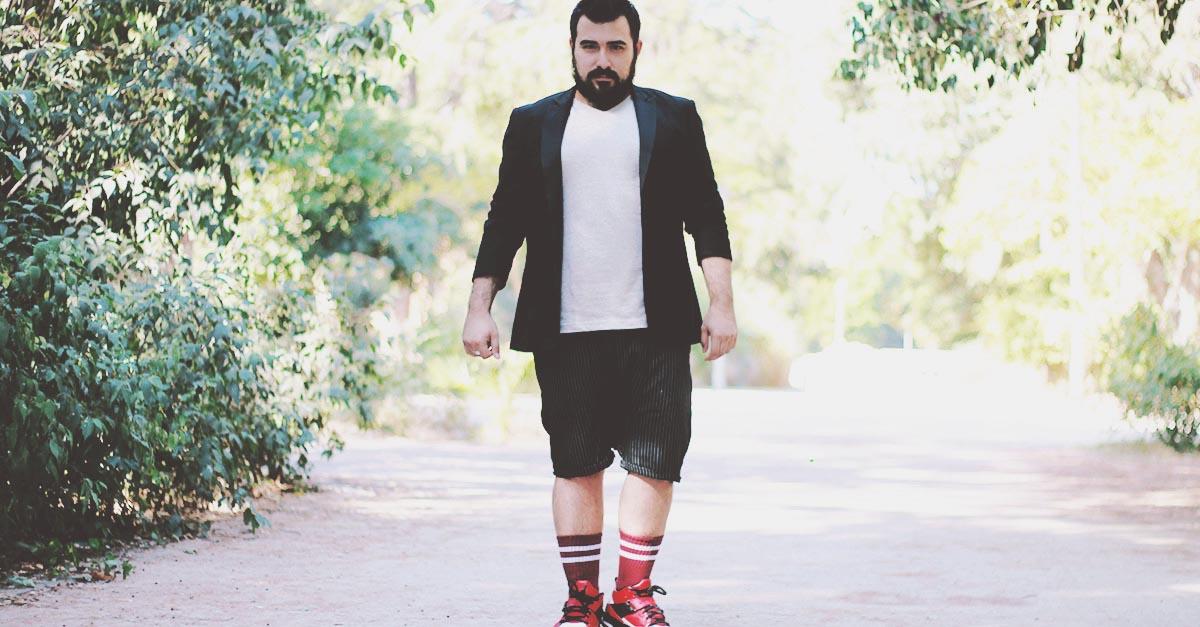 pantaloncini sartoriali lightinthebox, men plus size outfit uomo