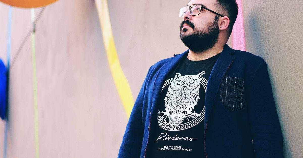 maglietta con un gufo banggood, plus size uomo outfit, plus size men outfit