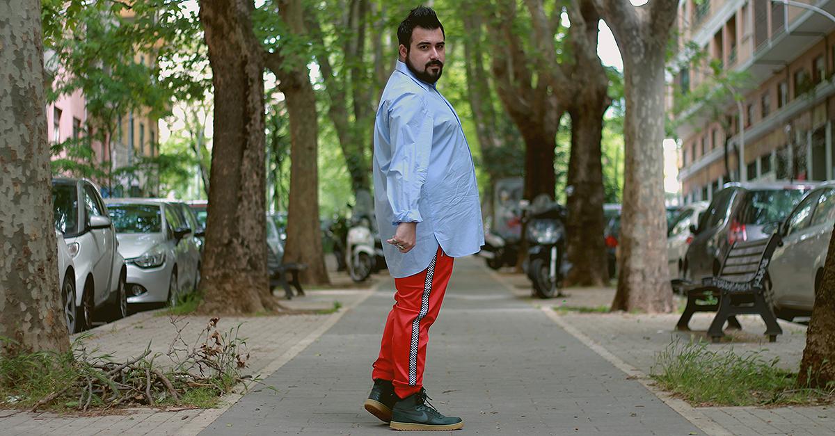 camicia da uomo oversize, plus size men fashion, abbigliamento taglie forti, look taglie comode uomo