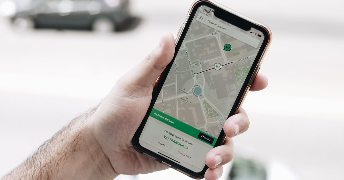 wher app, mappe, strade sicure