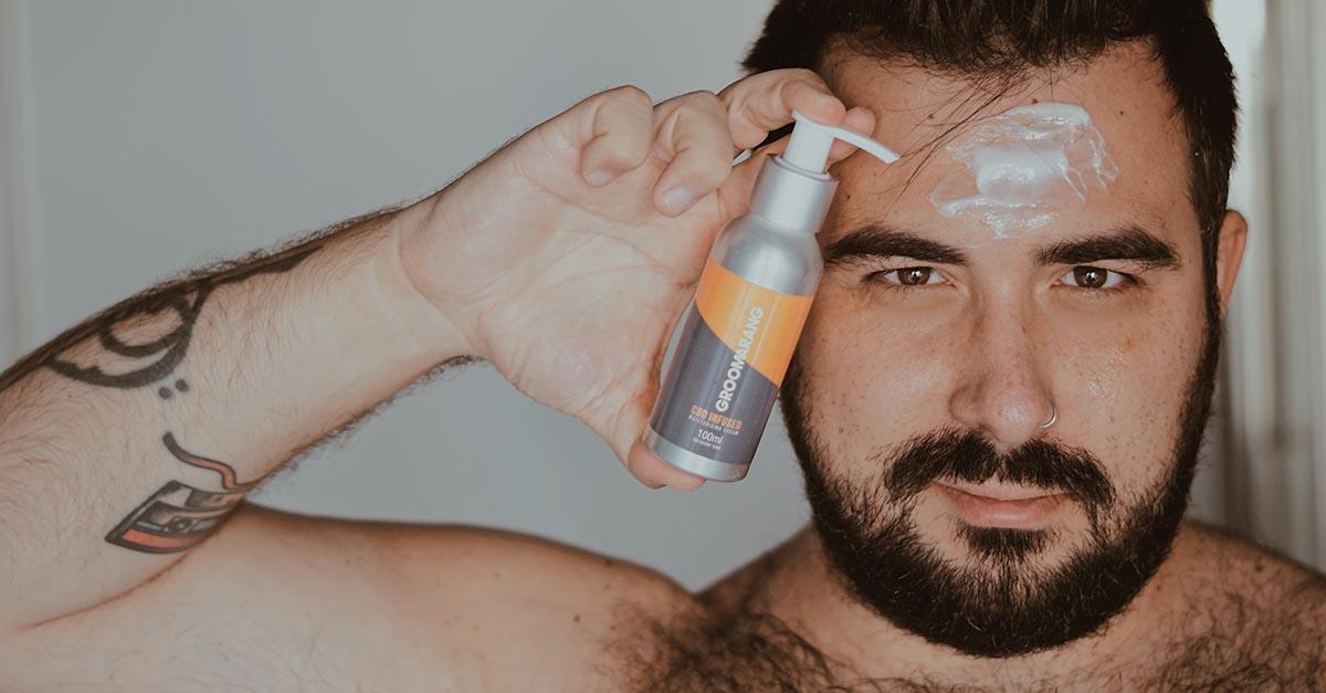 prodotti con CBD, Groomarang viso uomo