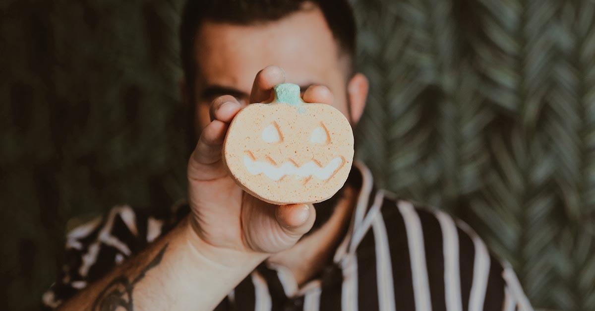 lush, halloween 2019, bomba da bagno punkin punkin